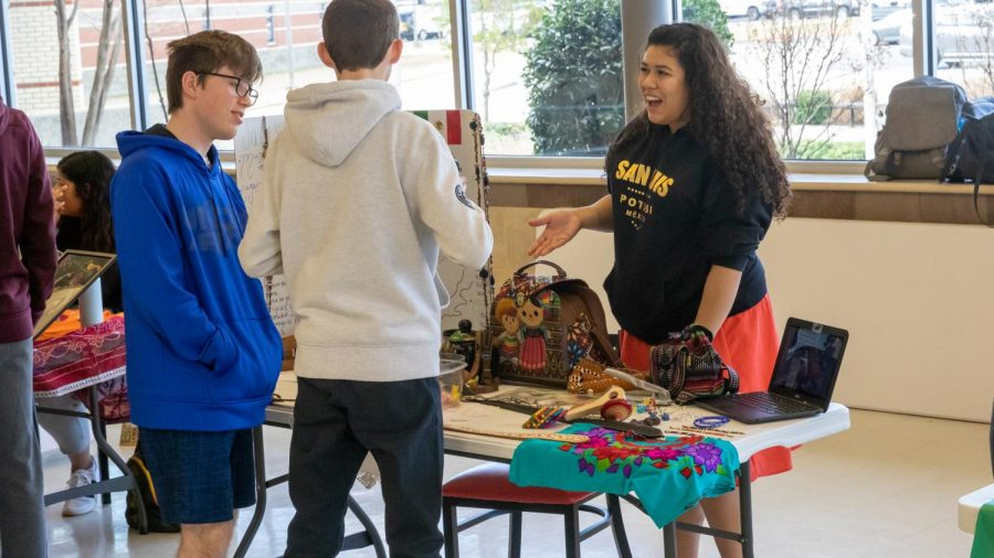 Student ambassadors share their countrys culture through food, music and activities at the Multi-Cultural Day Fair on February 26, 2020 at Argyle High School. (Gracie Hurst / The Talon News)