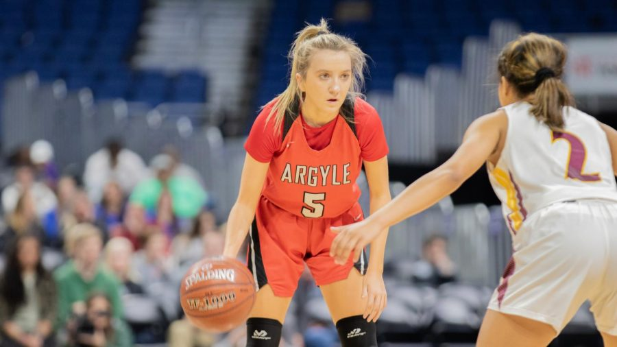 The Argyle Lady Eagles took on the Fairfield Lady Eagles at the Alamodome in San Antonio, Texas on March 7, 2020. (Katie Ray | The Talon News)