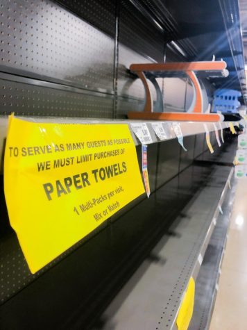 Grocery stores struggle to meet product demands due to the panic caused by the Coronavirus sweeping across the nation in Flower Mound, Texas on April 3, 2020. (Katie Ray | The Talon News)