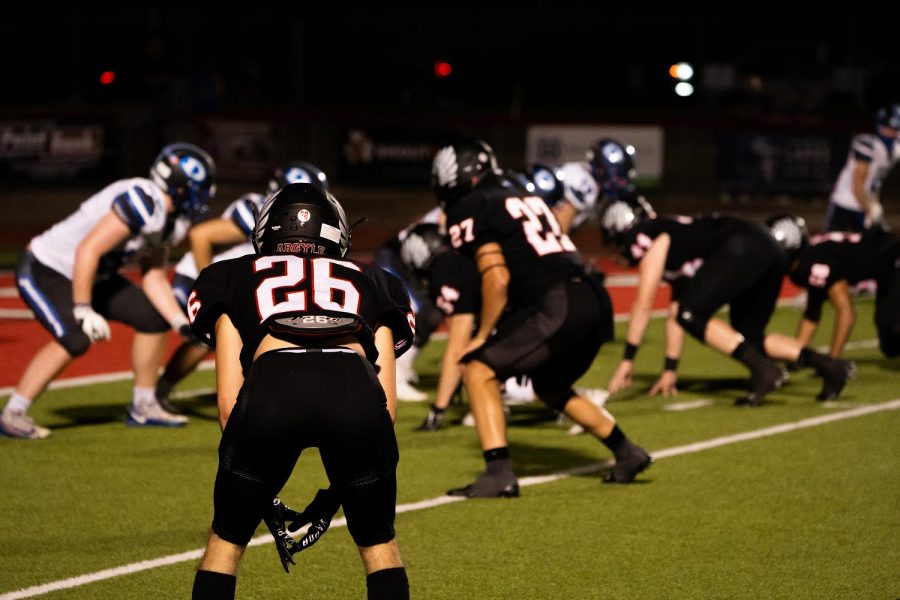 The Eagles defeat the Decatur Eagles 56-9 in the first game of the season in Argyle, Texas on Aug. 28, 2020. (Nicholas West / The Talon News)