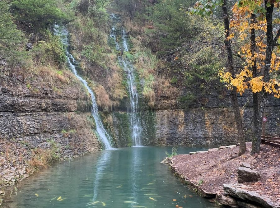 Gorgeous scenery at Dogwood Canyon Nature Park in Lampe, Missouri. (Laney Richardson / The Talon News)