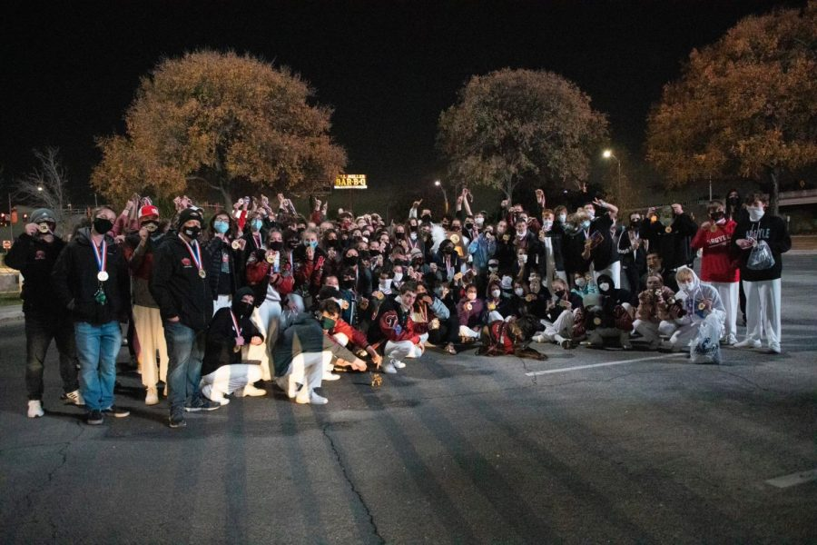 The+Argyle+band+claimed+the+4A+State+Marching+Band+Championship+on+Dec.+14%2C+2020+at+the+Alamodome+in+San+Antonio%2C+TX+%28Photo+Courtesy+of+Britt+Flaten%29