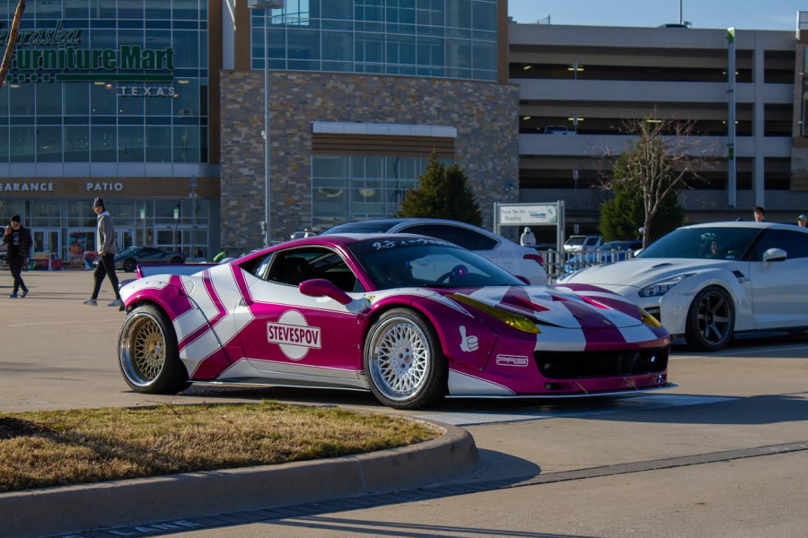 This very unique custom Ferrari leaving after the end of the meet. (Jacob Lormand I The Talon News)