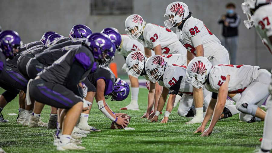 It's an Eagle face-off! The Argyle Eagles and the Canyon Eagles battle for a place at the State Finals at Anthony Stadium on Dec. 11, 2020. (Katie Ray / The Talon News)