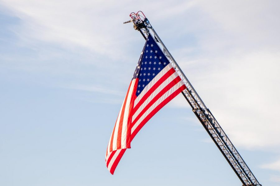 The American flag flies high on September 11. (The Talon News)